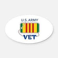 U S ARMY VET Oval Car Magnet