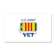 U S ARMY VET Car Magnet 20 x 12