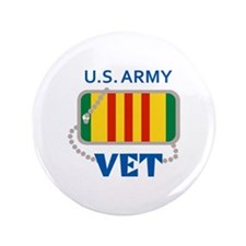 """U S ARMY VET 3.5"""" Button (100 pack)"""