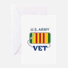 U S ARMY VET Greeting Cards