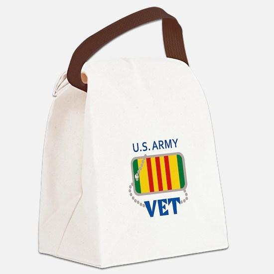 U S ARMY VET Canvas Lunch Bag