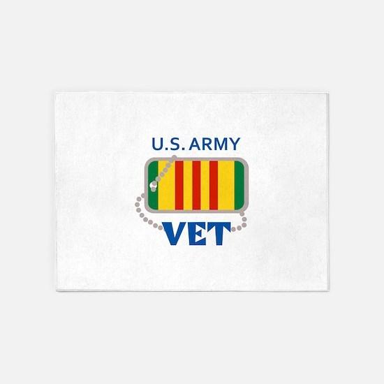 U S ARMY VET 5'x7'Area Rug
