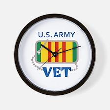 U S ARMY VET Wall Clock