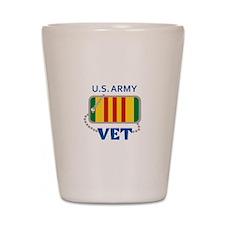 U S ARMY VET Shot Glass
