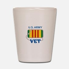U S ARMY VET Shot Glass