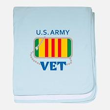 U S ARMY VET baby blanket