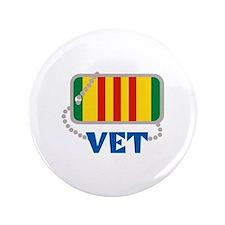 """VIETNAM VET 3.5"""" Button"""