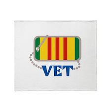 VIETNAM VET Throw Blanket