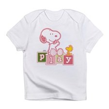 Snoopy Play - Pink Infant T-Shirt
