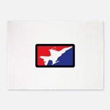AMERICAN FIGHTER JET 5'x7'Area Rug