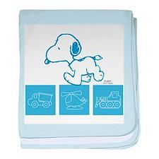 Snoopy - Truck, Heli, Truck baby blanket