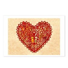Old Fashioned Heart Valentine Postcards (Package o