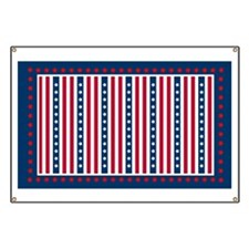 July 4th Red White and Blue Banner