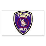 Redlands PD SWAT Rectangle Sticker