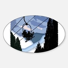 Chairlift Full of Skiers Decal