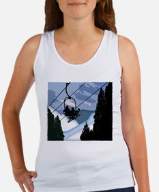 Chairlift Full of Skiers Tank Top