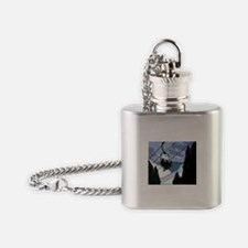 Chairlift Full of Skiers Flask Necklace