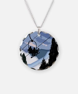 Chairlift Full of Skiers Necklace