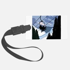 Chairlift Full of Skiers Luggage Tag
