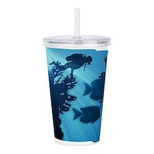 Underwater Blue World Acrylic Double-wall Tumbler