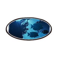 Underwater Blue World Fish Scuba Diver Patches