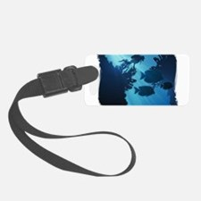 Underwater Blue World Fish Scub Luggage Tag