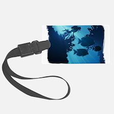 Underwater Blue World Fish Scub Luggage Tag
