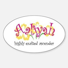 Aaliyah Oval Decal