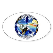 World Peace Oval Decal