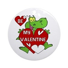 Crocodile Be My Valentine Ornament (Round)