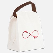 You and me together forever Canvas Lunch Bag
