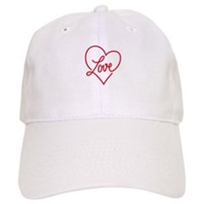love red heart Baseball Baseball Cap