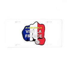 Je Suis Charlie Vive La Aluminum License Plate