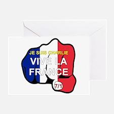 Je Suis Charlie Vive La France Fist Greeting Cards