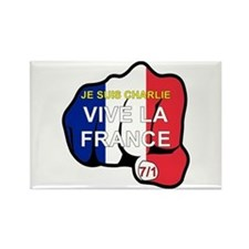 Je Suis Charlie Vive La France Fist Magnets