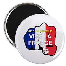 Je Suis Charlie Vive La France Fist Magnets