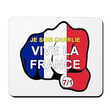 Je Suis Charlie Vive La France Fist Mousepad