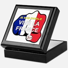 Je Suis Charlie Vive La France Fist Keepsake Box