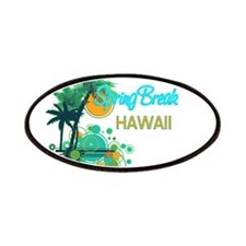 Palm Trees Circles Spring Break HAWAII Patches