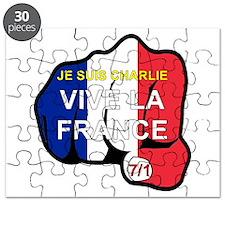 Je Suis Charlie Vive La France Fist Puzzle