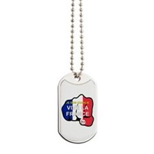 Je Suis Charlie Vive La France Fist Dog Tags