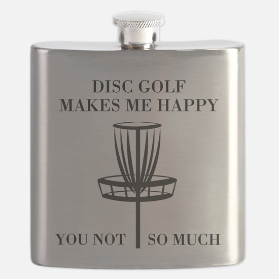 Disc Golf Makes Me Happy Flask