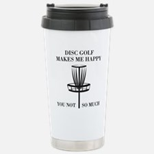 Disc Golf Makes Me Happy Travel Mug