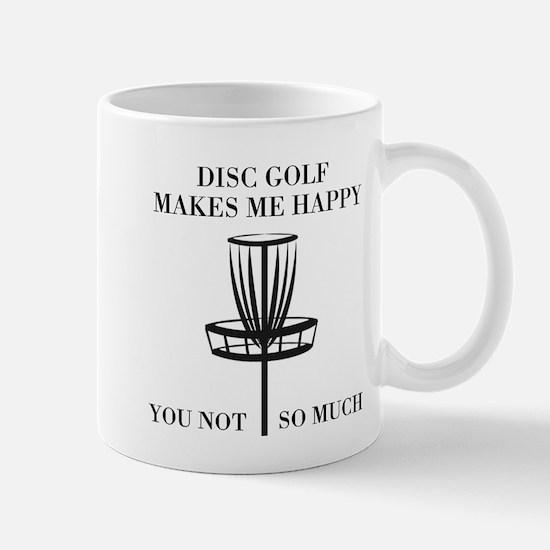 Disc Golf Makes Me Happy Mugs