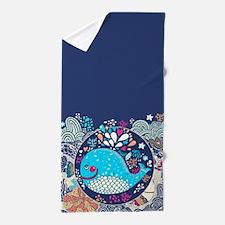Whimsical Whale Beach Towel