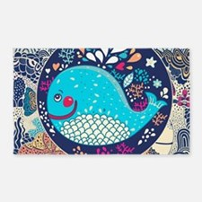 Whimsical Whale Area Rug