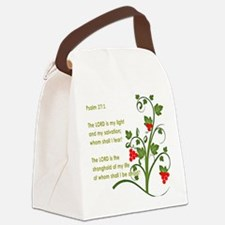 Psalm 27:1 Canvas Lunch Bag