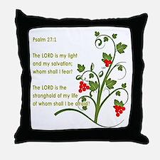 Psalm 27:1 Throw Pillow