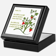 Psalm 27:1 Keepsake Box