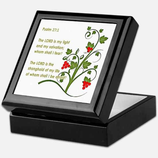 Psalm 27:1 Keepsake Box